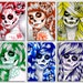 Set of SIX Signed Art Prints Spectrum Series 5x7, 8x10, or apprx. 11x14 Prints - Rainbow Day of the Dead Sugar Skulls