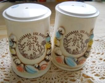 Bahama Island Seashell Salt and Pepper Shakers