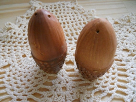 Acorn Salt and Pepper Shakers - Vintage and Collectible
