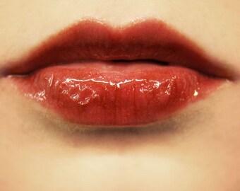 Dark Red Lip Gloss and Stain