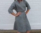 vintage EVeRY CLOUD HaS A SiLVER LINING dress with coordinating scarf SIZE M