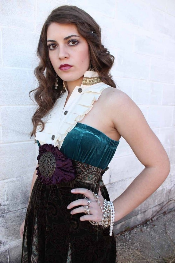 RESERVED LISTING FOR Julianna Camus BoHEMIAN TWiLIGHT one of a kind upcycled dress SiZE M