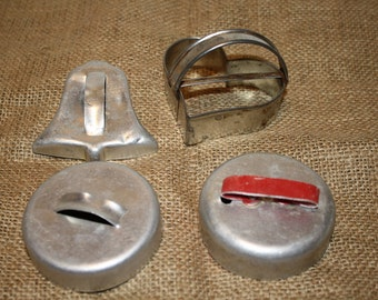 Aluminum Biscuit Cookie Cutters - set of 4