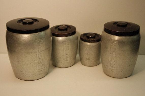 Vintage Aluminum Canister Set