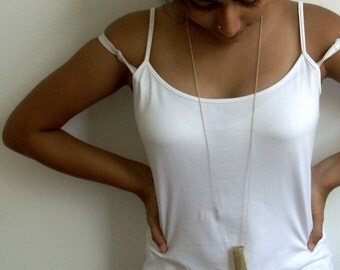 Buffalo Horn and Silver Long Necklace