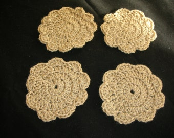 Set of Crocheted Coasters