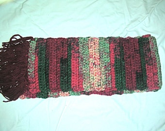 Crocheted Multicolored Scarf