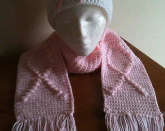 Scarf with Breast Cancer Ribbon