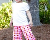 Ruffle Pants Girls , Boutique Couture Handmade with Designer Fabrics