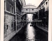 Vintage // Black & White //Photo // Canal Venice, Italy