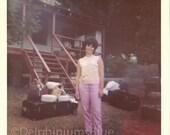 Vintage // 1960s // Digital / Color Photo // Woman In Pink// Groovy                                 0609