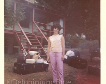 Woman In Pink Vintage // 1960s // Digital / Color Photo // Download Instantly                                0609