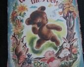 Vintage Winnie The Pooh Paper Book - Circa 1946