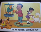 Care for Your Pets - Disney Study Print Poster - Circa 1967