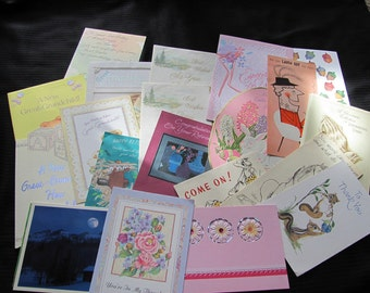 Lot of 20 Assorted Greeting Cards - Scrapbook Crafts Cutting