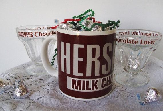 Mug (1) Glasses (2) Hershey's Chocolate Pennsylvania Desert Hot Chocolate