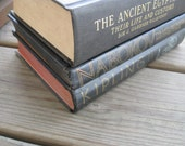 Three Vintage Black BOOKS Nabokov Kipling Ancient Egypt for decorating or reading lot