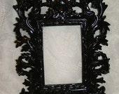 Black Frame Ornate Paris Medium Wall Mirror or Picture Frame 11 x 8