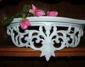 Wall Shelf,Shabby Chic, Bed Crown , Nursery , Victorian Decor,Shown in Satin White, 23 inches
