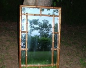 OFFERS on Collectible RARE Vintage Faux Bamboo Large Wall Mirror 44 x 26 Buy as Shown or Choose COLOR  Hollywood Regency