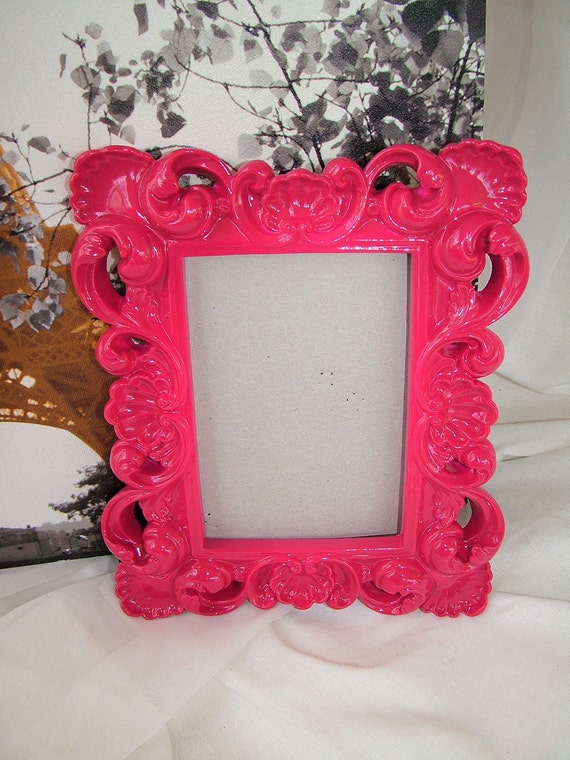 Ornate Hot Pink Mirror Or Picture Frame Parishollywood