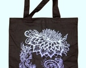 SALE ITEM: Flower Spiral Tote Bag