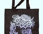 SALE ITEM: Flower Spiral Tote Bag
