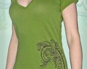 Green Lotus Shirt (Front and Back)