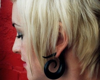 Tribal Swirl - Earrings for Stretched Lobes - Gauges