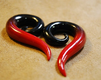 Blood and Leather - Earrings for Stretched Lobes - Gauges