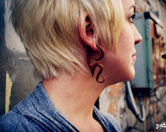 Autumn Suede - Earrings for Stretched Lobes - Gauges