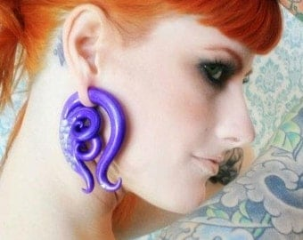 Sea Maiden - Earrings for Stretched Lobes - Gauges