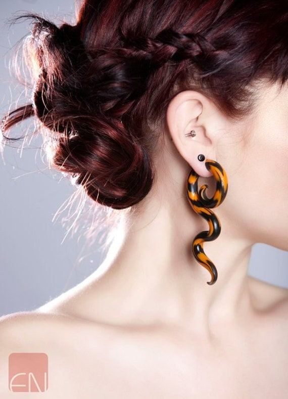 Tigress - Earrings for Stretched Lobes - Gauges