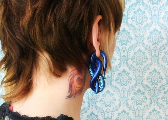Celtic Knot  - Earrings for Stretched Lobes - Gauges