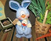 Primitive Easter Spring Bunny Chick Ornie Doll Pattern 151
