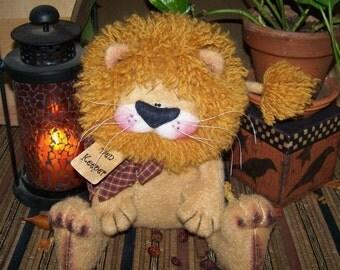 Primitive Den Keeper Lion Doll Shelf Sitter pattern 66