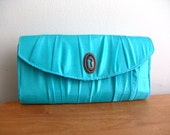 Handmade Clutch Bag. Turquoise Secret Romance
