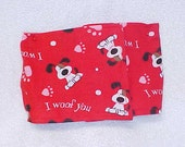 Male Dog Belly Band Diaper Pet Wrap Doggie Pants Woof You Fabric Size To 30""