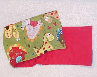 """Male Dog Diaper Belly Band  Pet Wrap  Dino Dinosaur Fabric Custom Sizes To 30"""""""