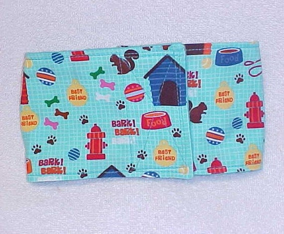 Male Dog Diaper Belly Band  Wrap  Doghouse Fire Hydrant  Custom Sizes To 16 Inches Only