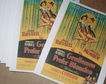 Movie Note cards 8 pack Gentlemen Prefer Blondes