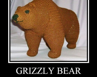 Grizzly Bear PDF Crochet Pattern