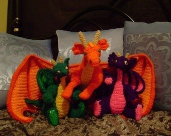 SPECIAL Both the Large and the Baby Dragon PDF Crochet pattern
