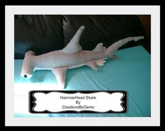 Hammerhead Shark PDF Crochet Pattern