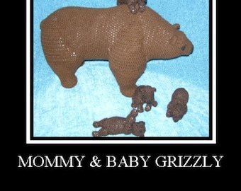 Grizzly Bear and Cubs Set PDF Crochet Patterns