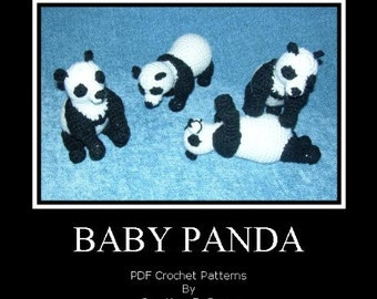 Panda Bear Cubs PDF Crochet Patterns