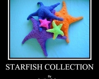 Starfish Collect of 5 PDF Crochet Patterns