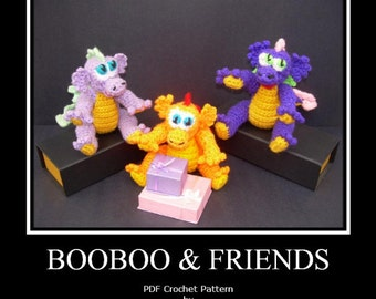 BooBoo Dragon & Friends PDF Crochet Pattern (revised)
