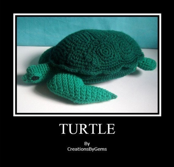 Turtle (med) PDF Crochet Pattern- by CreationsByGems(revised)