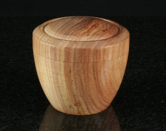 Canary Wood Lidded Vessel CAN-0002